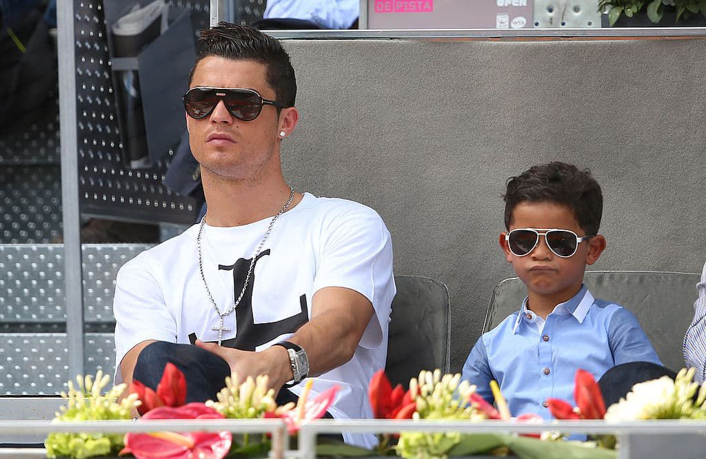 Watch Cristiano Ronaldo Jr Mimics Dad Scores Incredible Free