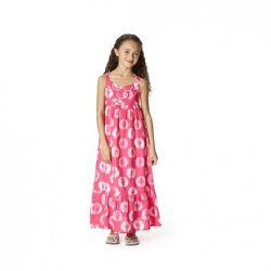 Printed Maxi Dress in Pink $19.99, Tie-Dye Flip-Flops in Blue $9.99