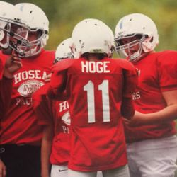 Beau Hoge playing youth football.