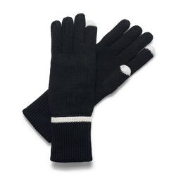 """If all you know is that she has a smartphone (and the vintage book charger isn't her thing), give her these <b>C. Wonder</b> Tech Touch Gloves in black/ecru, <a href=""""http://www.cwonder.com/gift-guide/boutiques/stocking-stuffers/tech-touch-gloves.html"""">$2"""
