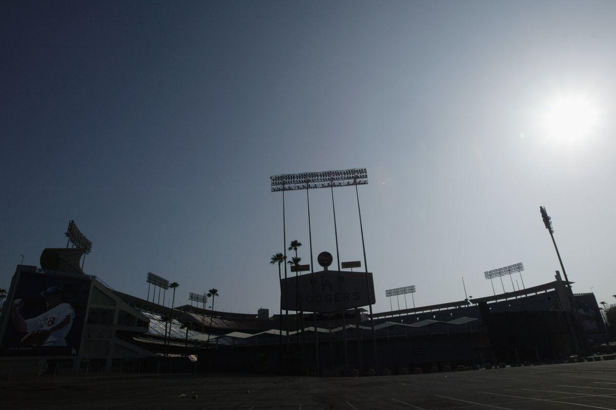 Exterior view Dodger Stadium