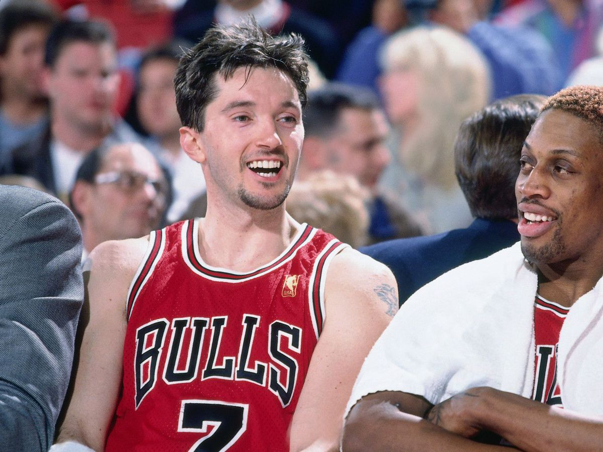 """The difficult thing for me was adjusting to the new team,'' new Hall of Famer Toni Kukoč said of joining the Bulls. ""As well as I played here in Europe, it was something totally different. I had to get used to a new system, new teammates, a new coaching staff."""