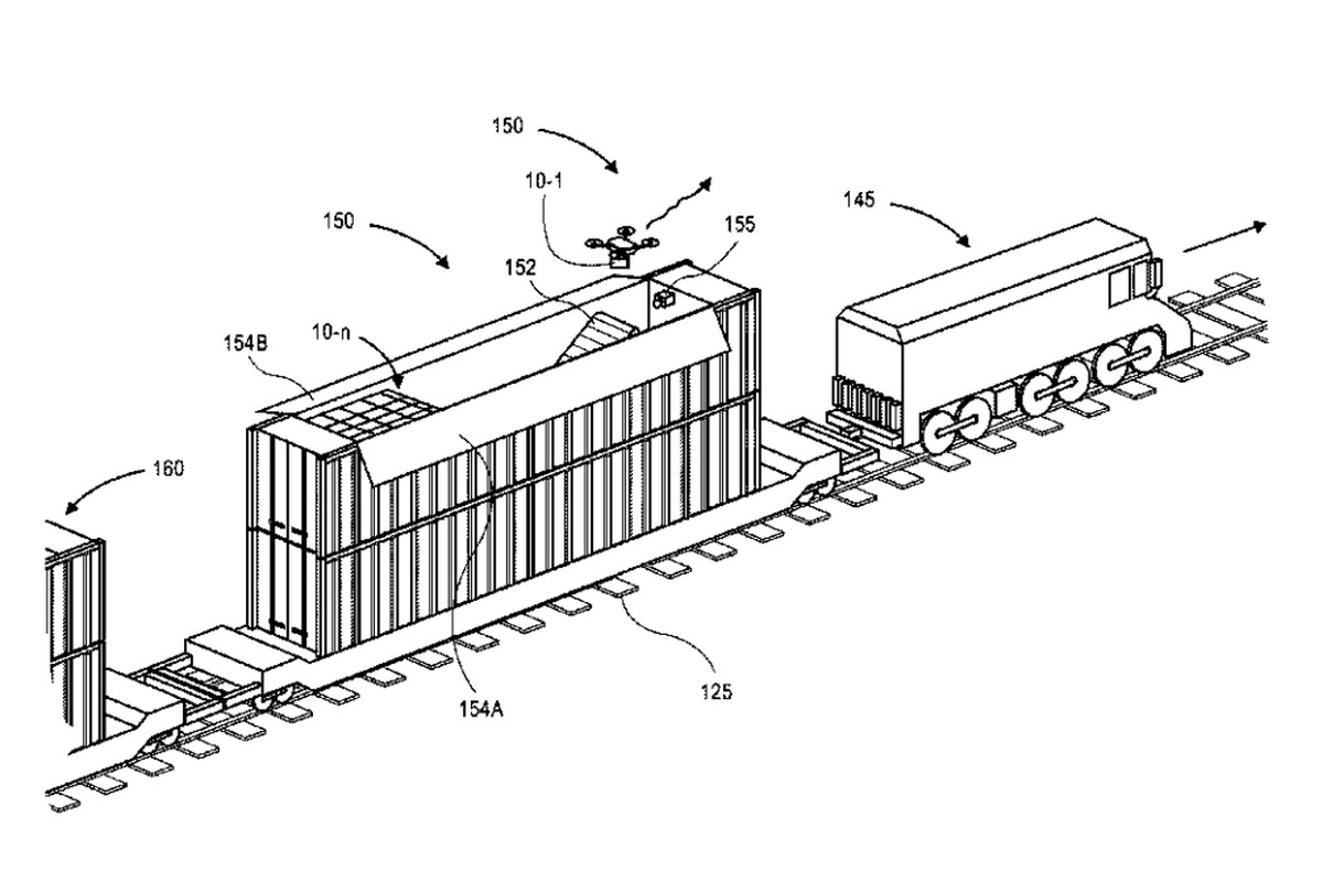 Amazon Weighs Building Mobile Drone Stations on Trains
