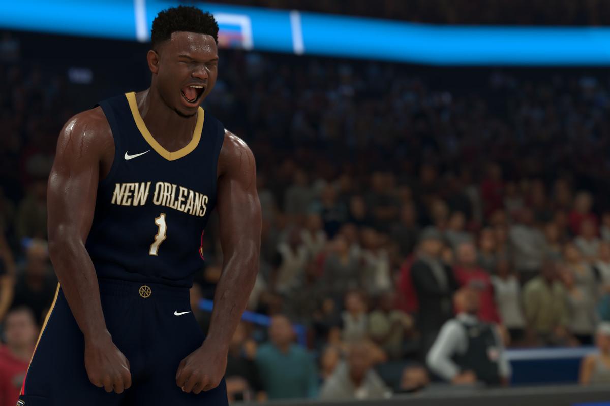 Zion Williamson appears in NBA 2K.