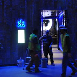 The entrance to the 80,000-square-foot, five level, Hakkasan.