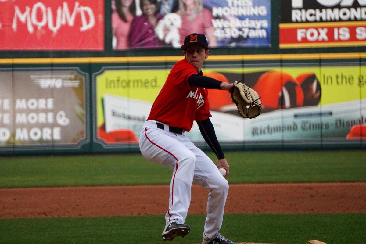 Maryland baseball Andrew Vail vs. VCU