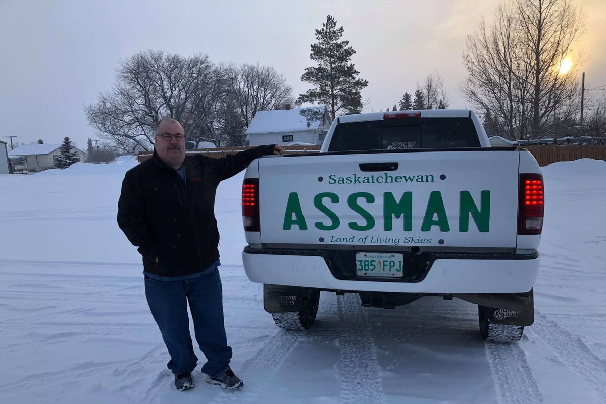 Saskatchewan Man Gets Big Assman Truck Decal
