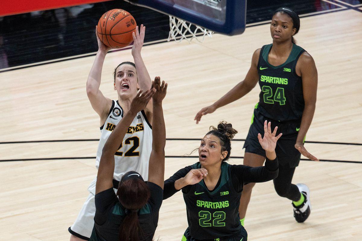 NCAA Womens Basketball: Big Ten Conference Tournament-Michigan State vs Iowa