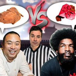 """<a href=""""http://eater.com/archives/2012/03/29/david-chang-questlove-to-have-televised-fried-chicken-battle.php"""">David Chang, Questlove to Have Fried Chicken Battle</a>"""