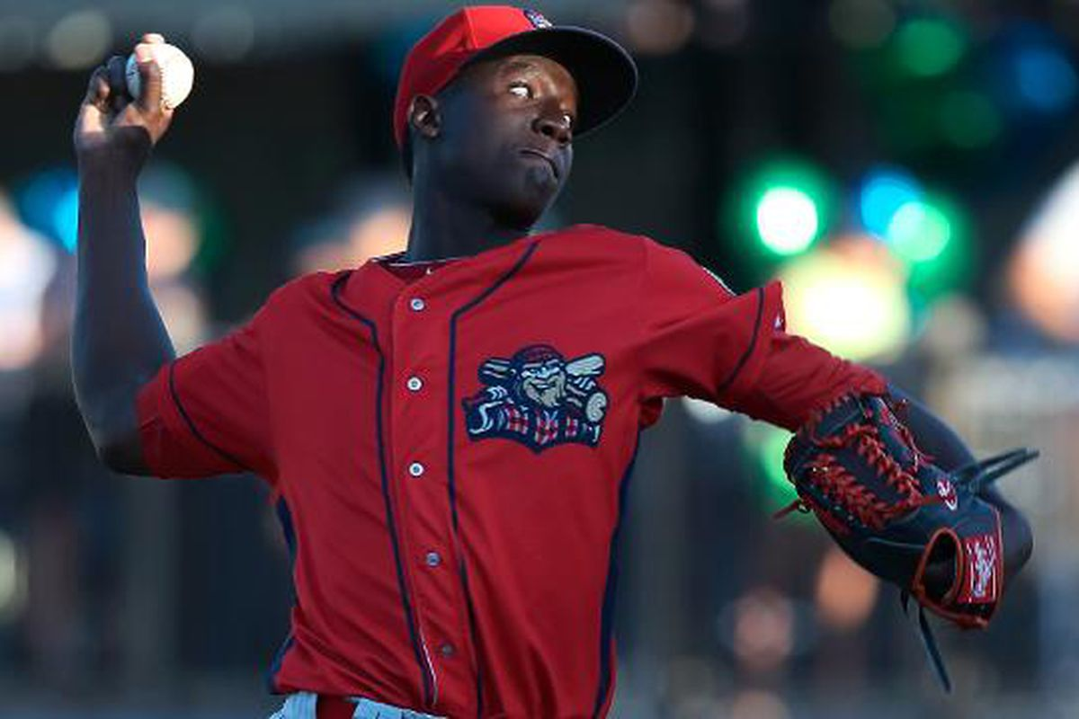 Franklyn Kilome delivers for the Williamsport Crosscutters.
