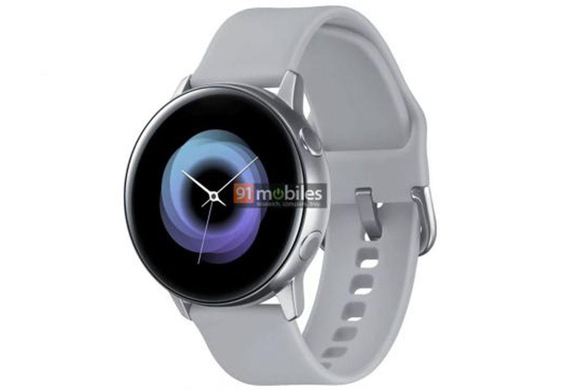 302b8e2fa55 Samsung Galaxy Sport leak shows a sleek bezel-less smartwatch - The ...