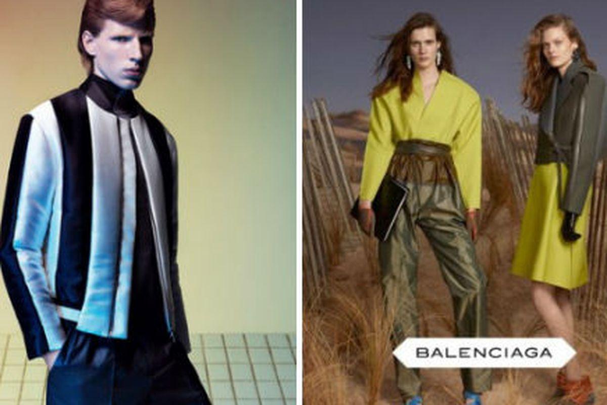 "<a href=""http://www.balenciaga.com/"">Balenciaga's</a> men's and women's fall 2012 campaigns"
