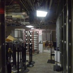 A look at the construction of Culinary Dropout from the hallway entrance across from Nobu.