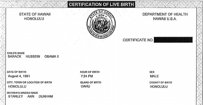 president obamas long form birth certificate