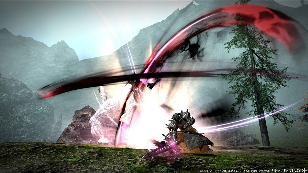 Final Fantasy 14: Heavensward dark knight attack