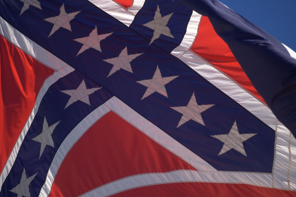 The flag flying at Mississippi's state capitol in 2010.