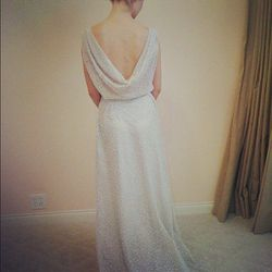 A gown from their recent Sarah Seven trunk show