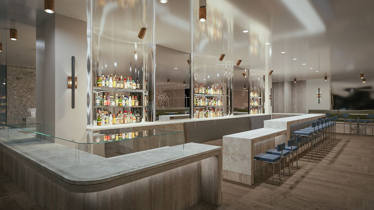 Rendering of the Freds at Barneys bar