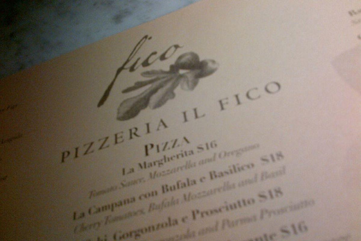 Pizzeria il Fico, Mid-City.]