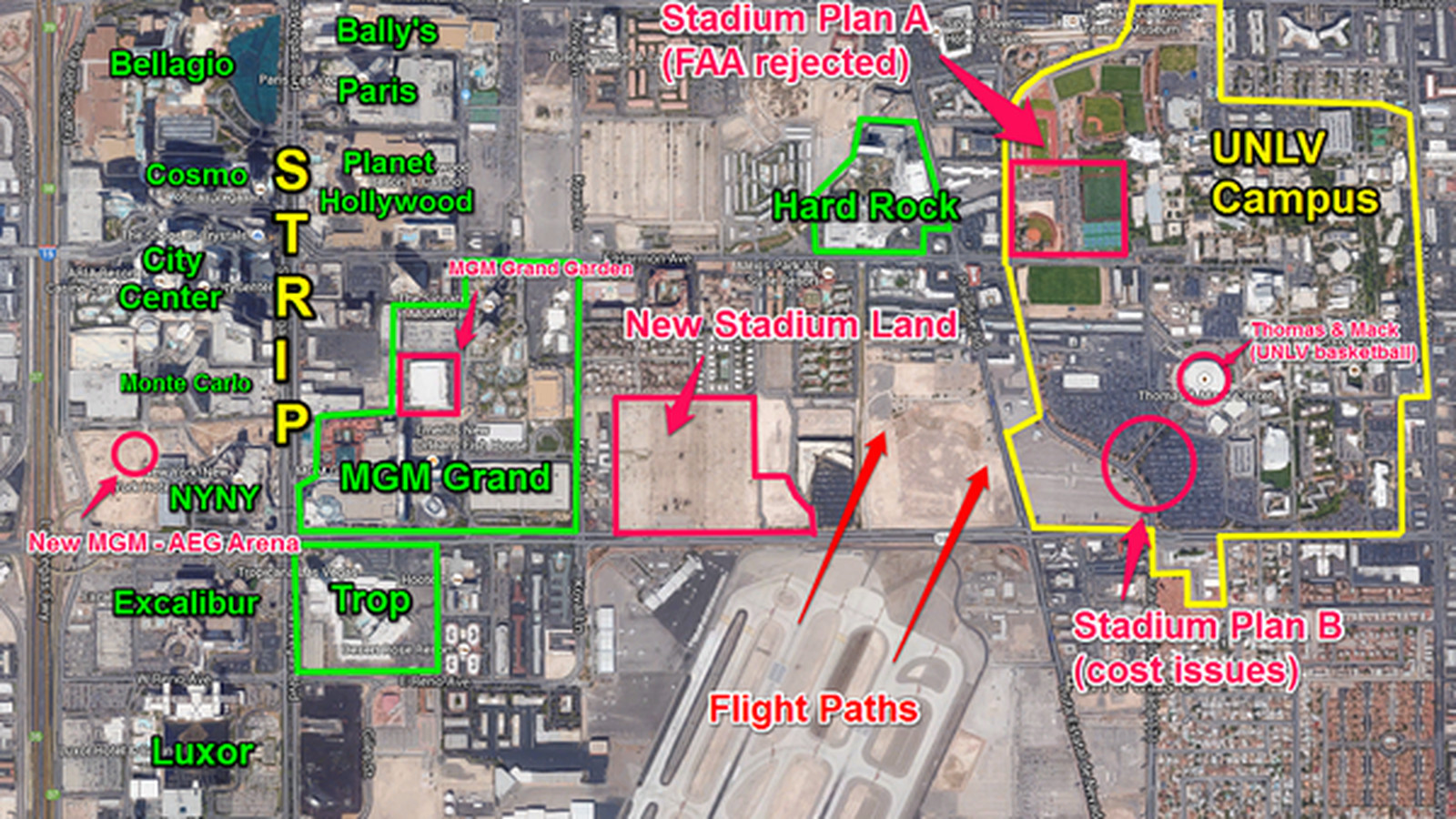 potential location for new unlv stadium