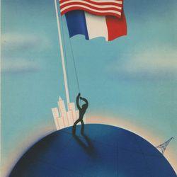 "Menu from the French Pavilion via <a href=""http://www.studio-international.co.uk/studio-images/Paris_New_York/MCNY22_b.asp"">Studio International</a>."