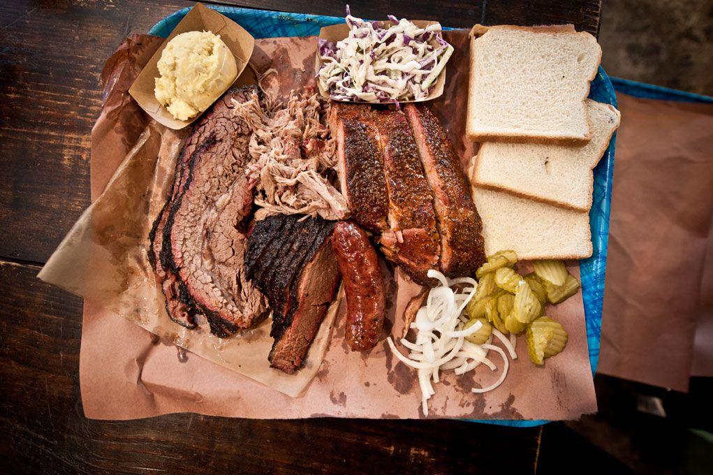 Franklin Barbecue's barbecue tray