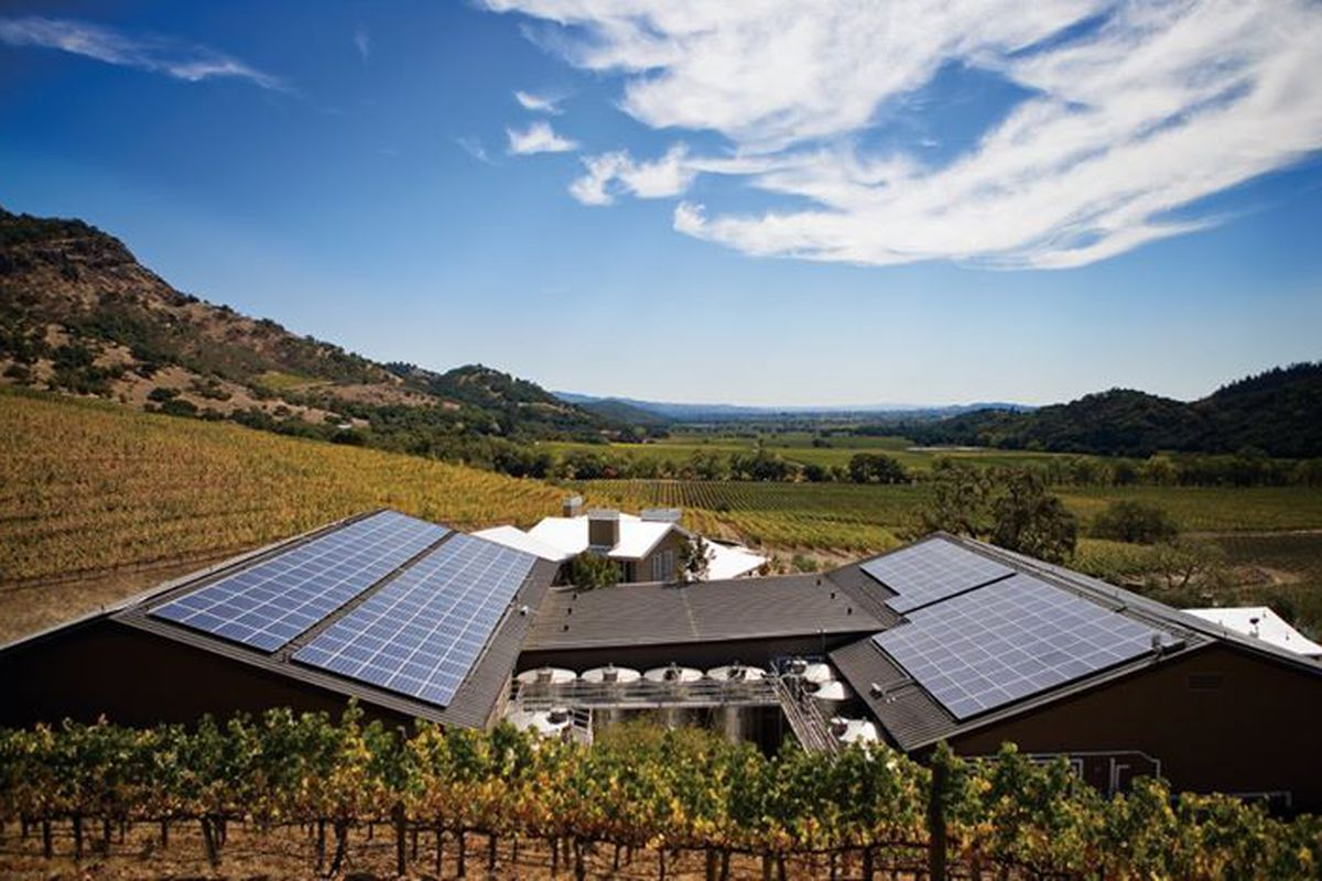 Schafer Vineyards buildings solar (Credit: Schafer Vineyards/Facebook)