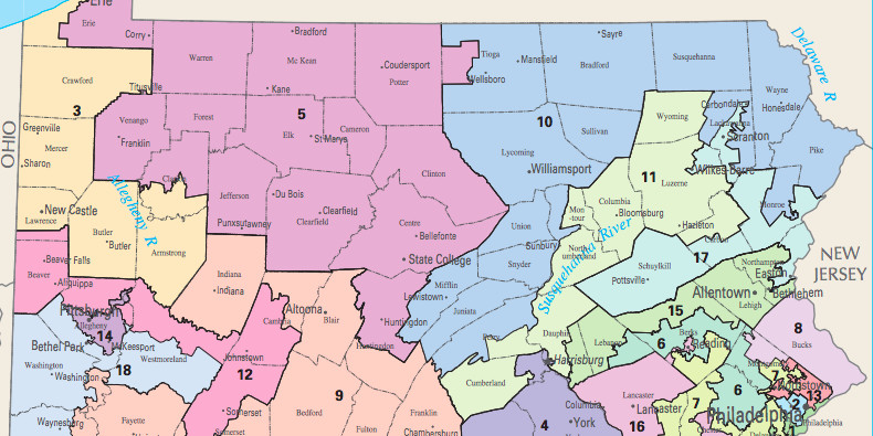 Pennsylvanias Gerrymandered House Map Was Struck Down With Huge - Pa map