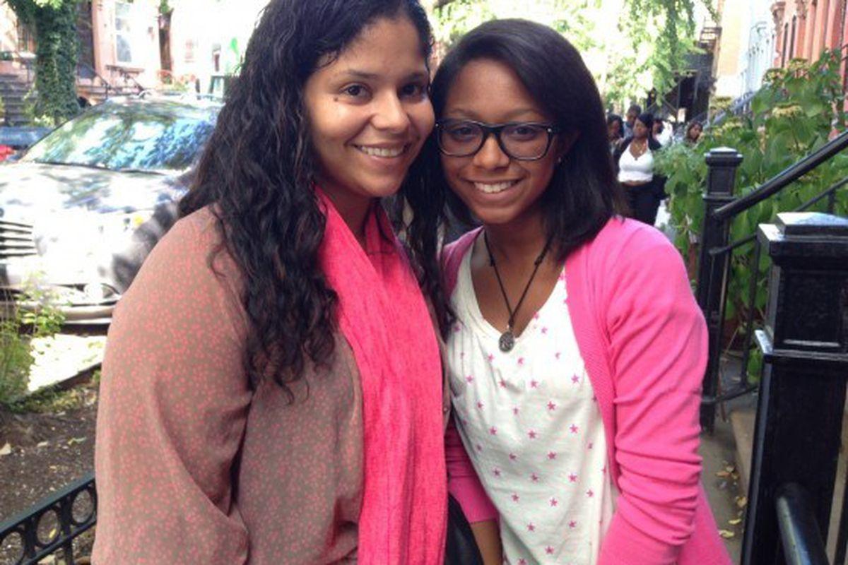 Divine Jones with her mom, Danimaris Fonseca.
