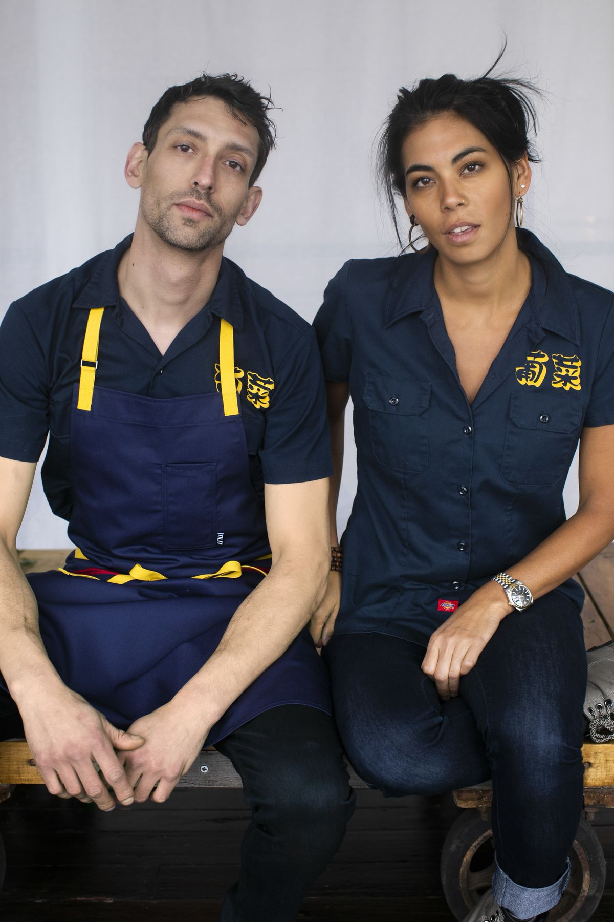 A portrait photo of a man and a woman.