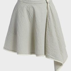 """This Leith skirt is perfectly voluminous; the subtle pinstripes and assymetric drape set it apart from all the other poofy white skirts out there. <a href=""""http://shop.nordstrom.com/s/leith-stripe-wrap-skirt/3436437?origin=category-personalizedsort&contex"""