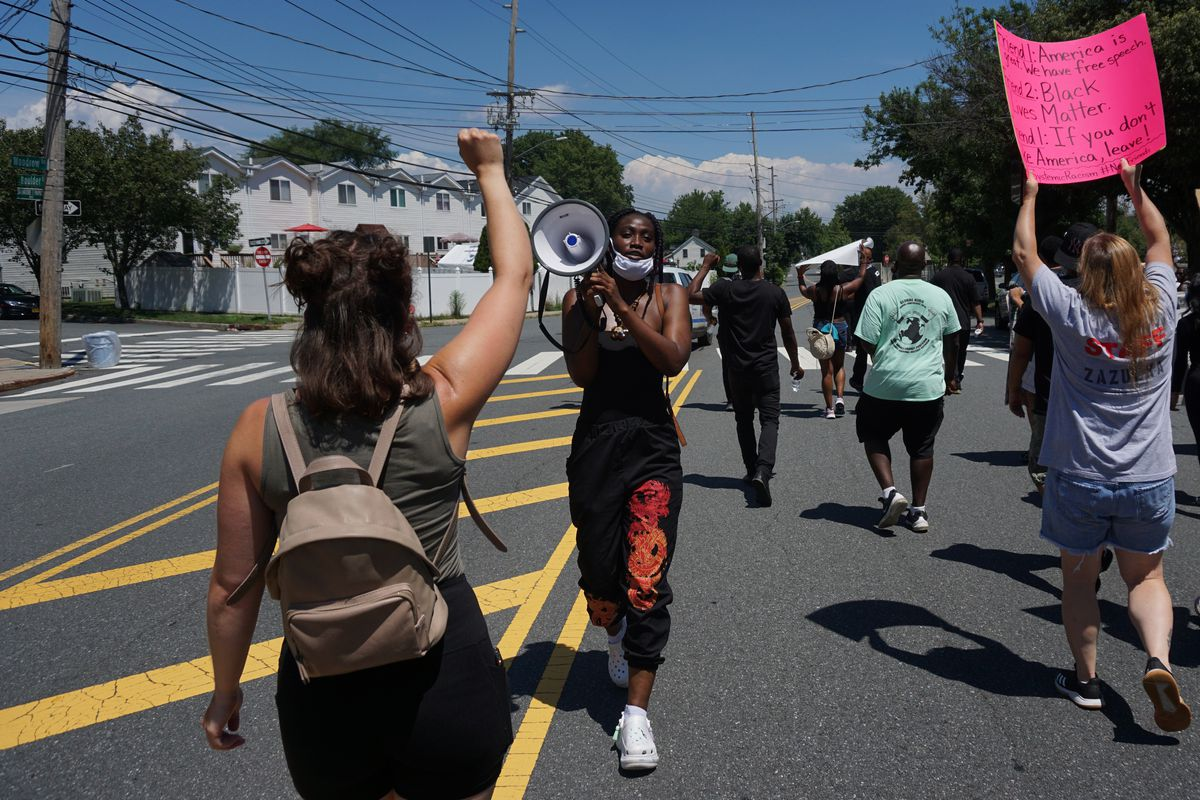 The Young Leaders of Staten Island marched across the borough, Aug. 1, 2020.