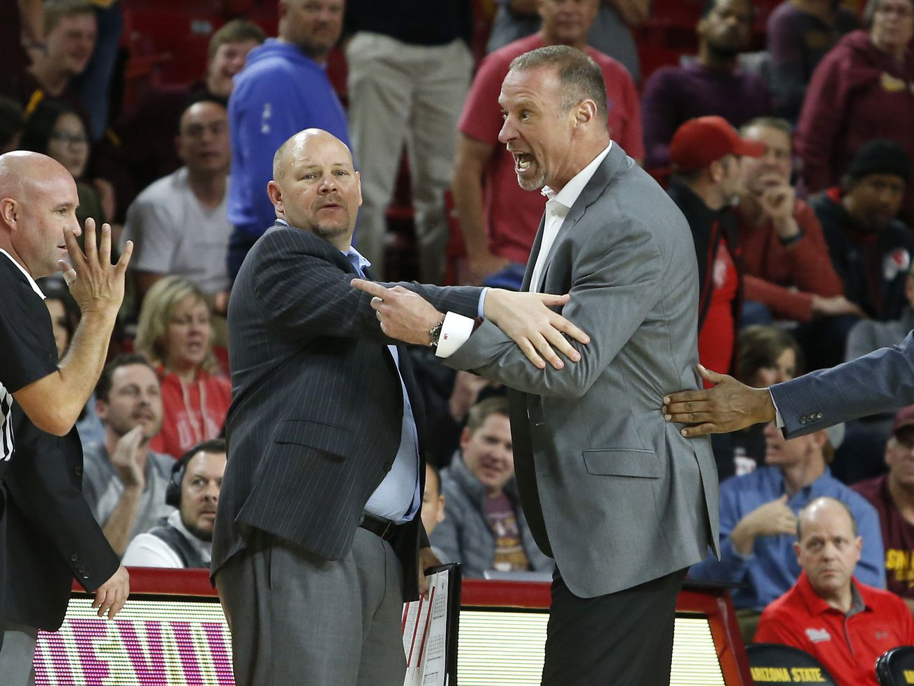 Krystkowiak's tirade and ejection overshadows another big road loss for Utah basketball team