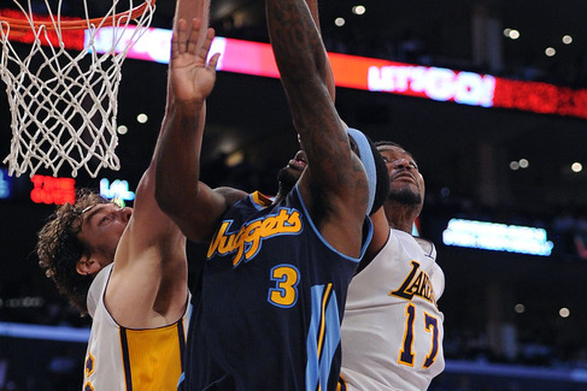 Ty Lawson and the Nuggets were smothered at the rim all day.