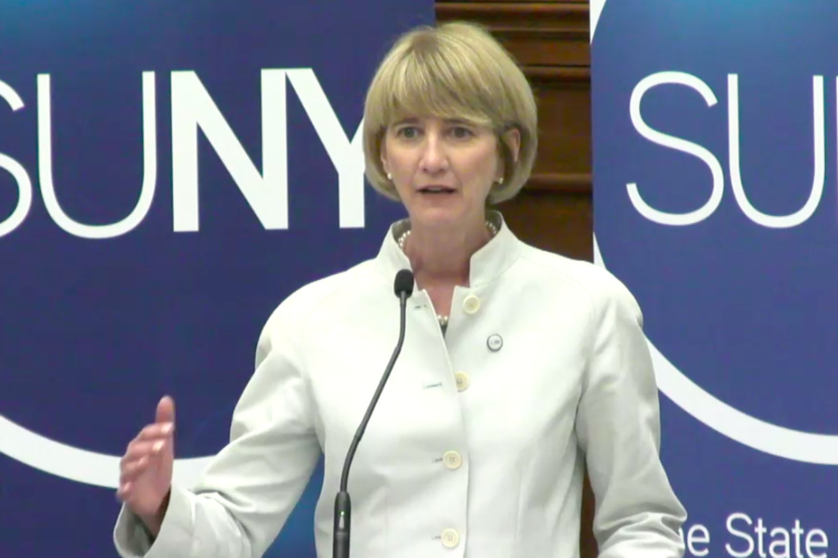 Kristina Johnson, the newly appointed chancellor of SUNY.