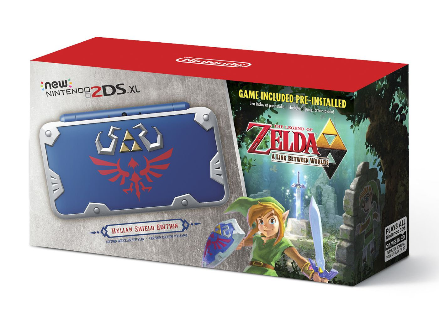 Nintendo Is Releasing A Hylian Shield Edition 2ds Xl On July 2nd