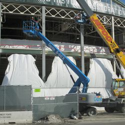 11:52 a.m. Work taking place in front of the ballpark -