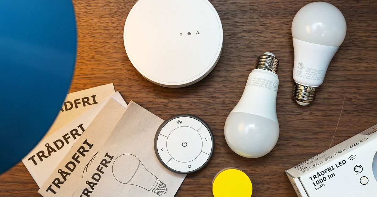 ikea smart lights now support homekit and alexa with. Black Bedroom Furniture Sets. Home Design Ideas