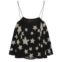 """<b>Kate Moss for Topshop</b> Star-embellished Crepe Camisole, <a href=""""http://www.net-a-porter.com/product/446008/Kate_Moss_for_Topshop/star-embellished-crepe-camisole"""">$150</a>"""