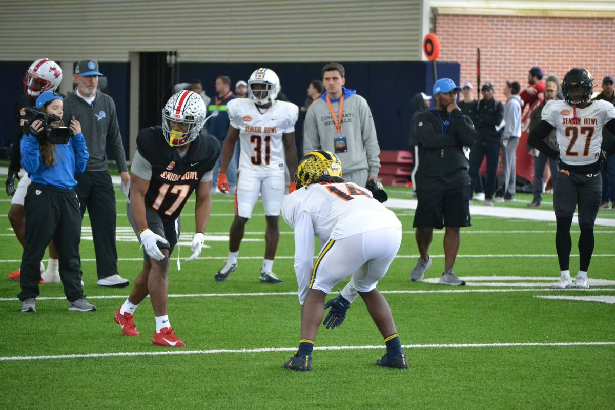 Ohio State players tearing it up at Senior Bowl practice