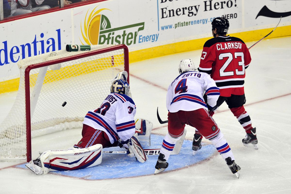 Remember when David Clarkson scored twice against the Rangers? It was awesome. Let's hope we can see it again tonight.