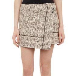 "<b>Proenza Schouler</b> wrap skirt, <a href=""http://www.barneyswarehouse.com/proenza-schouler-tweed-low-slung-wrap-mini-skirt-503364426.html?index=11&cgid=clearance-whswclothing"">$159.50</a>"