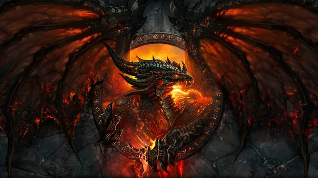 Artwork of the dragon Deathwing from World of Warcraft: Cataclysm
