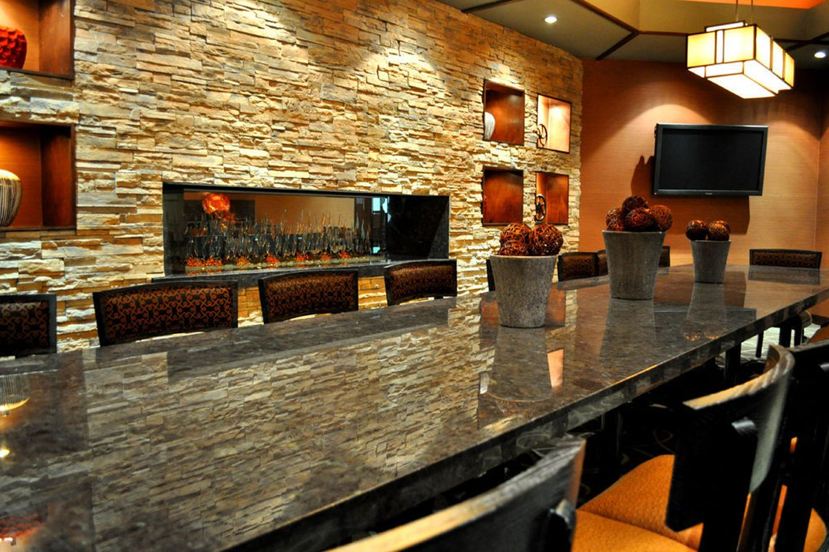 The private dining room at McCall's Heartland Grill.