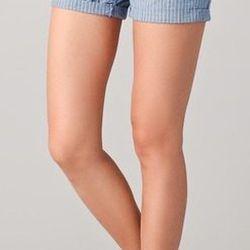 """<a href=""""http://www.shopbop.com/ticking-stripe-midi-short-madewell/vp/v=1/845524441929459.htm?folderID=2534374302025763&fm=sale-shopbysize-viewall&colorId=39870""""><b>Madewell</b> Ticking Striped Shorts</a>, $41.65 (was $70.00)"""