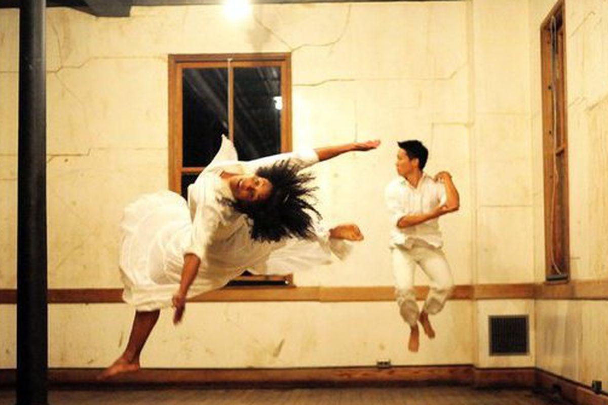 "Amara Tabor-Smith and Sherwood Chen, photo by <a href=""http://anateresafernandez.com/"">Ana Teresa Fernandez</a>"