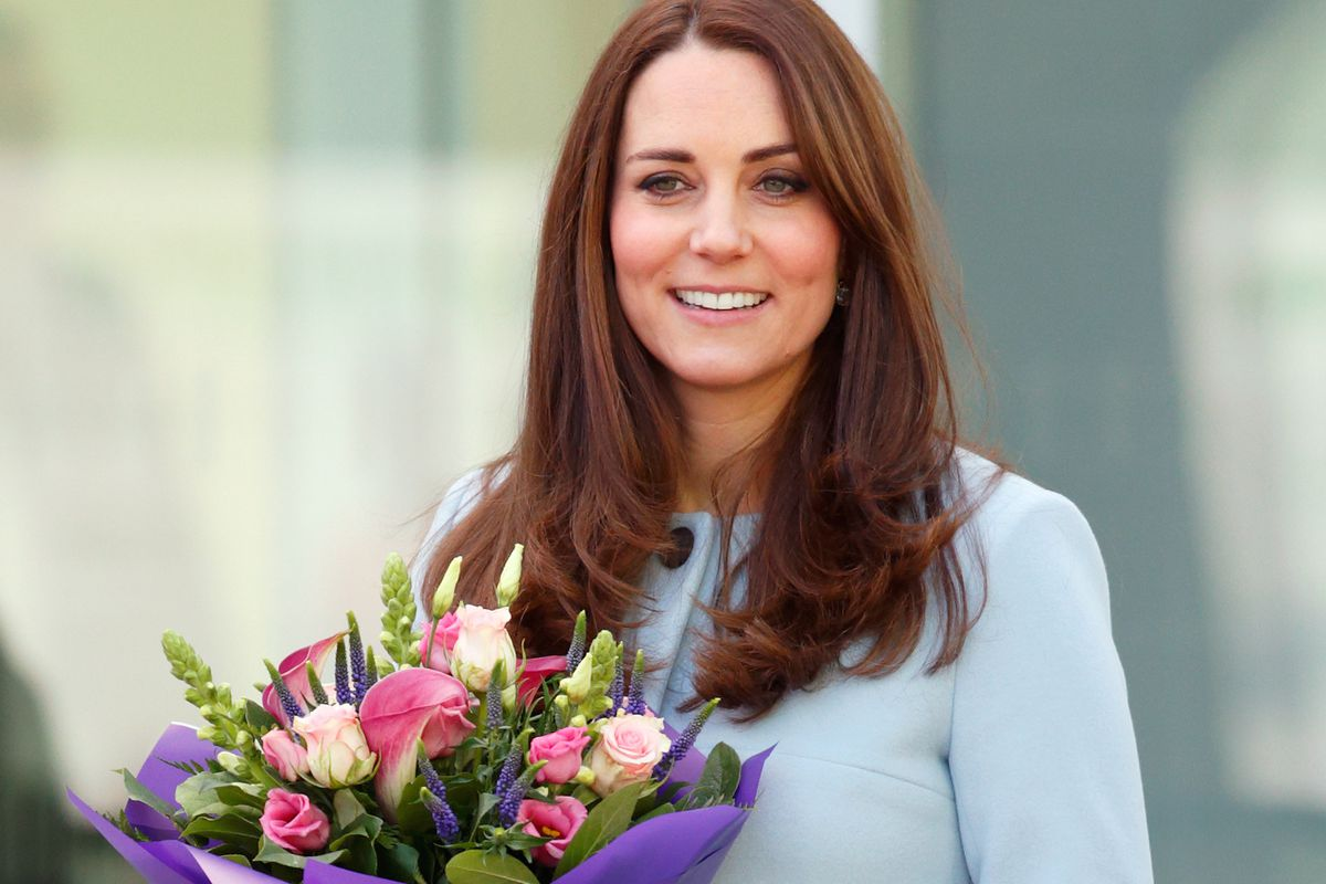 Kate Middleton in a Seraphine coat. Photo: Getty Images