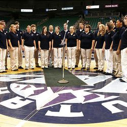 The Kearns High School Madrigals audition Friday for a chance to sing the national anthem during Utah Jazz games this season at EnergySolutions Arena in Salt Lake City.