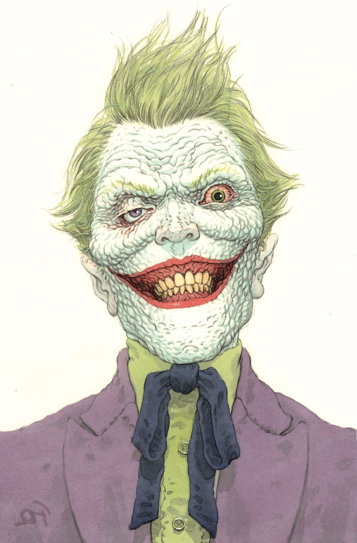 The Joker grins at the viewer in a variant cover for The Joker #1, DC Comics (2021).