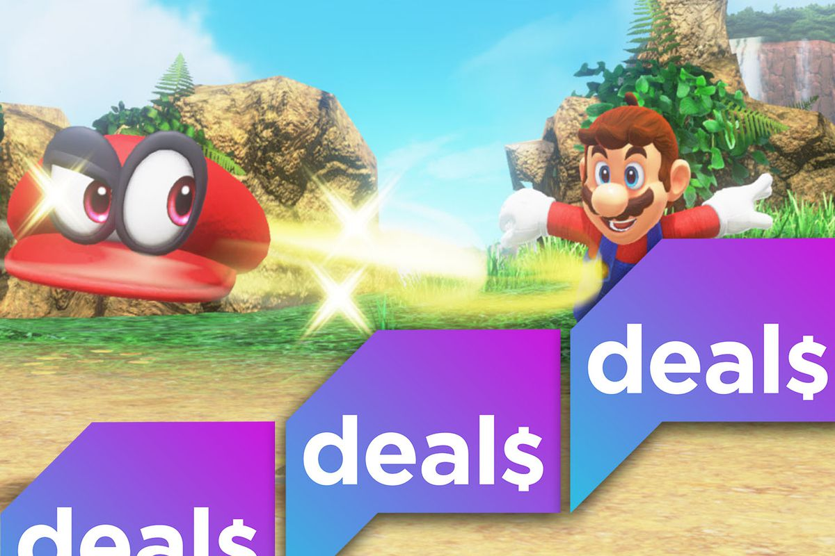 A Super Mario Odyssey screenshot with the Polygon Deals logo